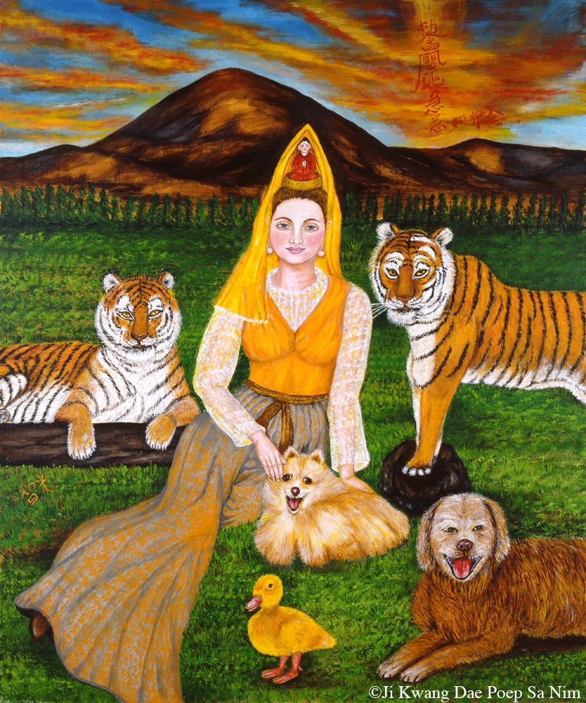 Bodhisattva with Two Tigers